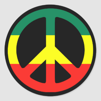Peace Symbol for the World! Classic Round Sticker
