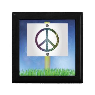peace symbol gift box