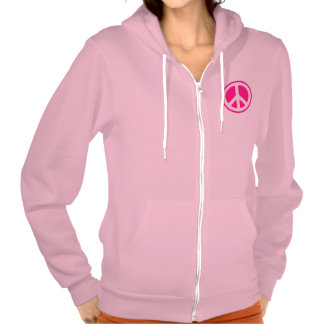 Peace Symbol Hooded Sweatshirt