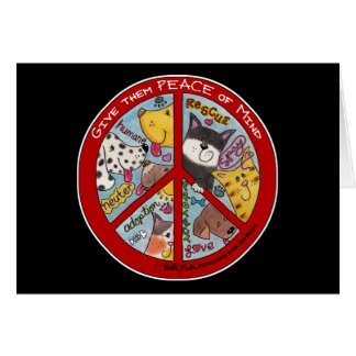 Peace Symbol-Humane Cards
