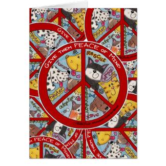 Peace Symbol-Humane Greeting Card
