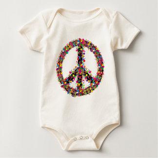 Peace symbol large baby bodysuit