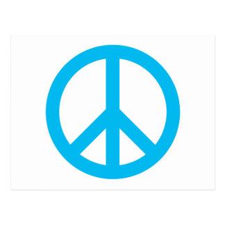 Peace Symbol - Light Blue Post Cards