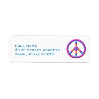 Peace Symbol Mailing Labels