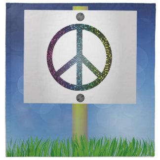 peace symbol napkin