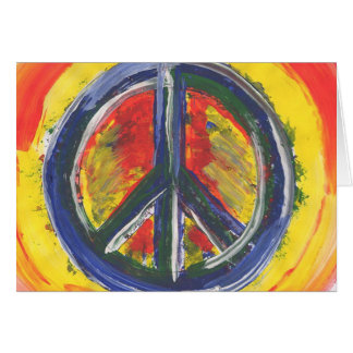 Peace symbol notecards card