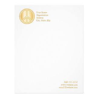 Peace Symbol Personalized Letterhead