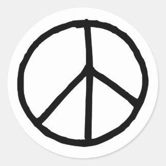 Peace Symbol Round Sticker