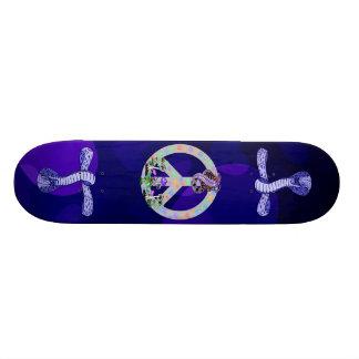 Peace Symbol Snake Skate Board Deck