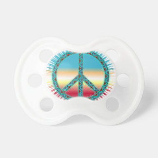 Peace Symbol southwest art Pacifier
