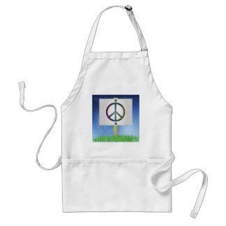 peace symbol standard apron
