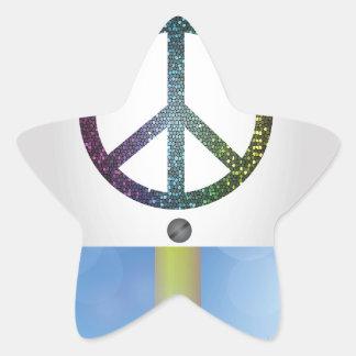 peace symbol star sticker