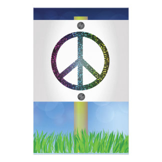 peace symbol stationery