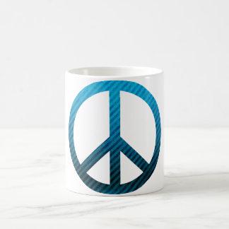 Peace Symbol Striped Blue Mug