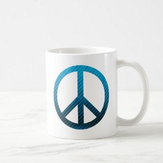 Peace Symbol Striped Blue Coffee Mugs