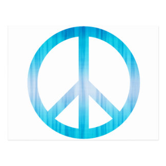 Peace Symbol Textured Light Blue Post Cards