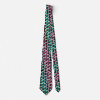 Peace Symbol Tie, Gray, Pink, Aqua,Yellow, Green Tie
