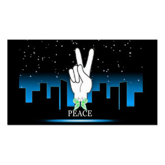 Peace Symbol with a City Background Business Card