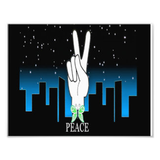 Peace Symbol with a City Background Photo