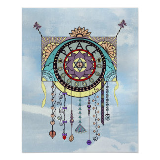 Peace Symbols Kite Dangle Print