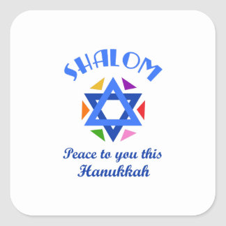 PEACE THIS HANUKKAH SQUARE STICKER