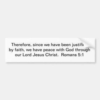 Peace Through Christ Bumper Sticker