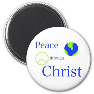 Peace Through Christ Fridge Magnets
