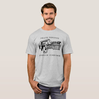 Peace Through Firepower seen in Aliens T-Shirt