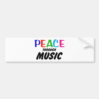 Peace Through Music (rainbow) Bumper Sticker