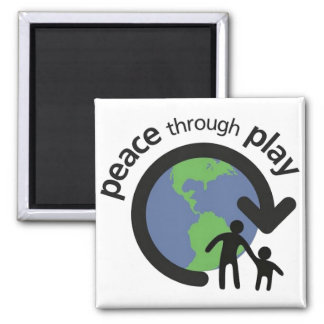Peace through Play Magnet