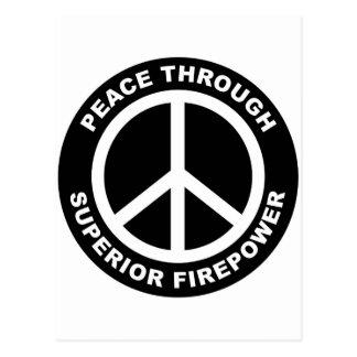 Peace Through Superior Firepower Postcard