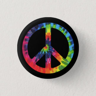 Peace Tie-dye 1 Inch Round Button
