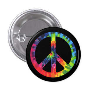 Peace Tie-dye 1 Inch Round Button