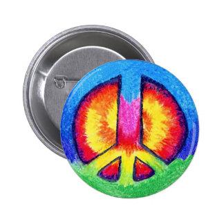 Peace Tie~Dye 2 Inch Round Button