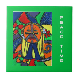 Peace Time  - Green - Time Pieces Tile