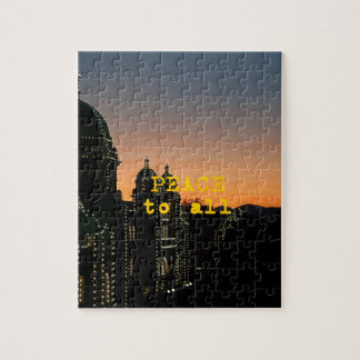 Peace To All - Mosques With Lights Jigsaw Puzzle