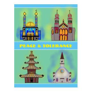 Peace & Tolerance Postcard
