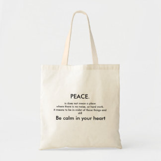 Peace. Tote Bag