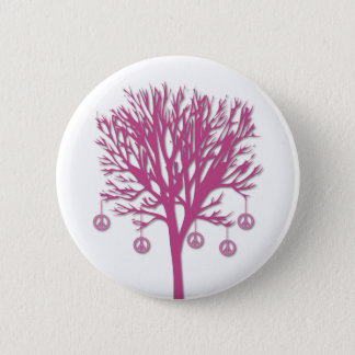 Peace Tree 2 Inch Round Button