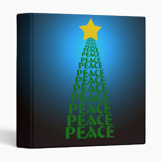 Peace Tree Bright Blue Photo Binder by Heard_