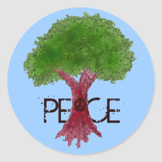 Peace Tree Customizable Stickers
