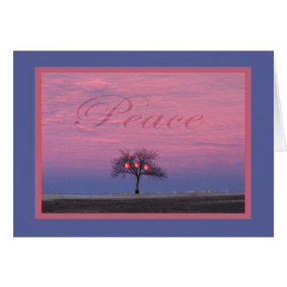 Peace Tree Greeting Card with Persimmons