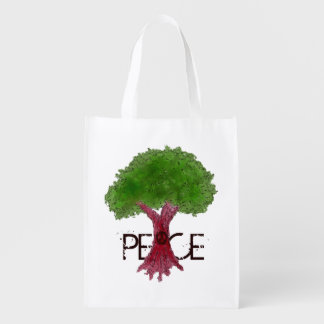 Peace Tree Grocery Bag