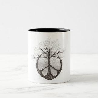Peace/Tree Two Tone Mug