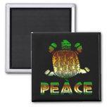 Peace Turtle Fridge Magnets