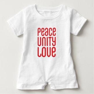 PEACE UNITY LOVE ♥ BABY ROMPER