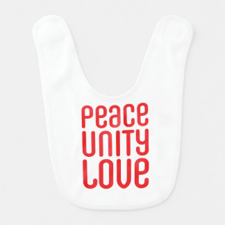 PEACE UNITY LOVE ♥ BIB