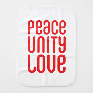 PEACE UNITY LOVE ♥ BURP CLOTH