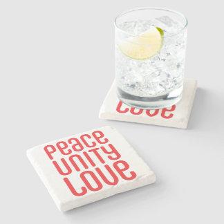 PEACE UNITY LOVE ♥ STONE COASTER