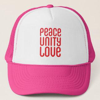 PEACE UNITY LOVE ♥ TRUCKER HAT